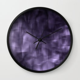 Purple abstract painting. Wall Clock