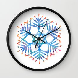 hanukkah menorah flake Wall Clock