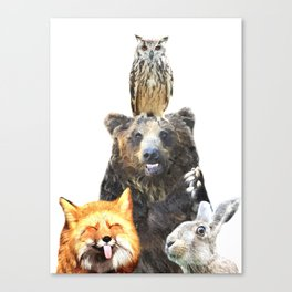 Woodland Animal Friends Canvas Print