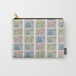 Minerology Quartz Crystal Postage Stamps Carry-All Pouch