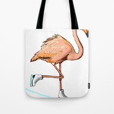 Flamingo on ice Tote Bag