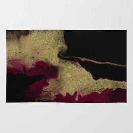 Black Honey - resin abstract painting Rug