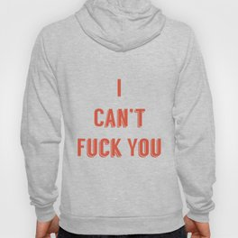 Say I can't fuck you- in tinder tinder red. Hoody