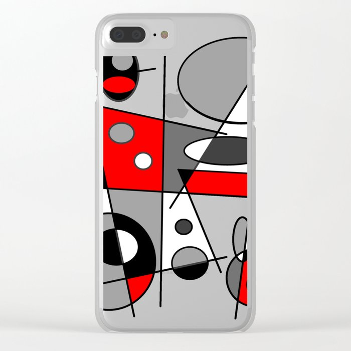 Abstract #35 Clear iPhone Case