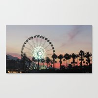 coachella Canvas Prints featuring Coachella by Lauren Haney