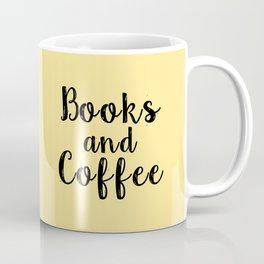 Books and Coffee (Yellow) Coffee Mug