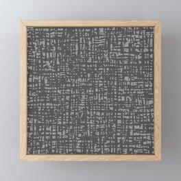Fibre Mesh Pattern (Grey) Framed Mini Art Print