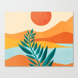 Mountain Sunset / Abstract Landscape Illustration Canvas Print