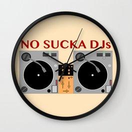 No Sucka DJs  Wall Clock
