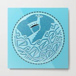 Blue Antelope Metal Print