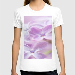Lovely Lilac Blossom Bokeh Background #decor #society6 #buyart T-shirt