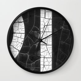 Cracked Typography Abstract Wall Clock