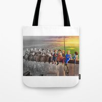 feminism Tote Bags featuring Feminism At Work by Women You Should Know