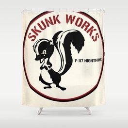 Skunk Works F-117 vintage poster Shower Curtain