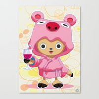 one piece Canvas Prints featuring One Piece: TonyTony Chopper by Neo Crystal Tokyo