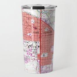 Vintage Map of Fort Collins Colorado (1960) Travel Mug
