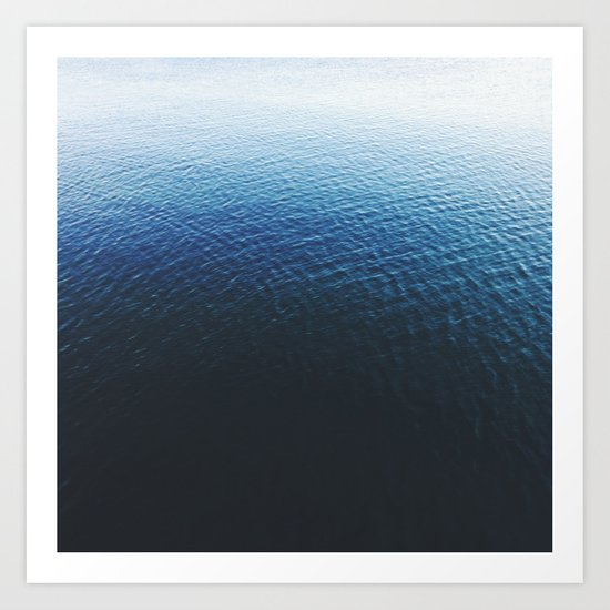 Ombre Waters Art Print