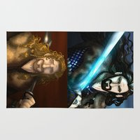 fili Area & Throw Rugs featuring Thorin & Fili by wolfanita