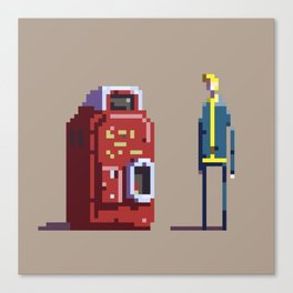 Vault boy and Nuka-Cola Canvas Print