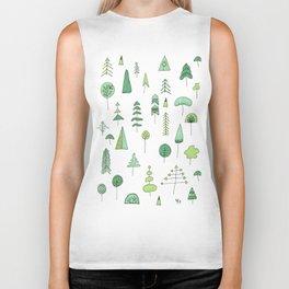 Green Trees Biker Tank