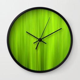 green grass abstract VII Wall Clock