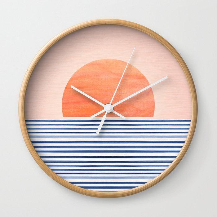 Summer Sunrise - Minimal Abstract Wall Clock