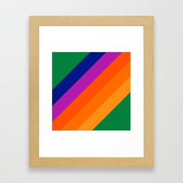 Simple Stripes - Grass Framed Art Print