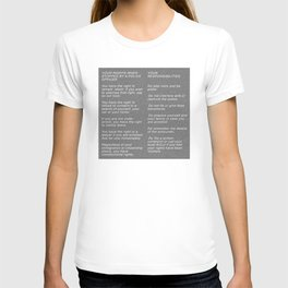 Your Rights When Stopped By A Police Officer T-shirt