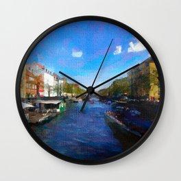 Strolling through Nyhavn Wall Clock
