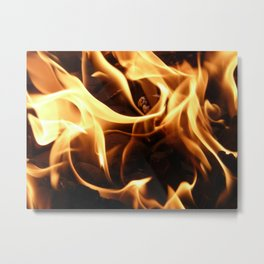 Licking Flames Metal Print