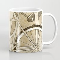 booty Mugs featuring Bike Booty by Renee Staeck