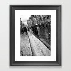 Down The Street Framed Art Print