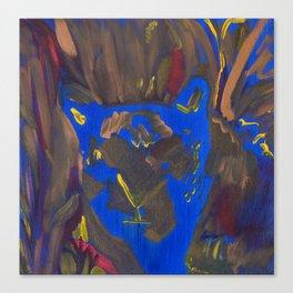 Snow Leopard Blue Canvas Print
