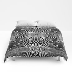 Black & White Tribal Symmetry Comforters