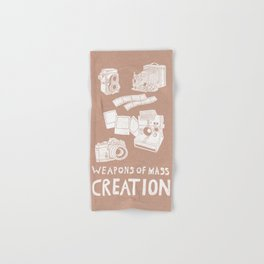 Weapons Of Mass Creation - Photography (white) Hand & Bath Towel