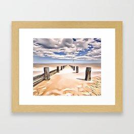 Beach Perspective Airbrush Artwork Framed Art Print
