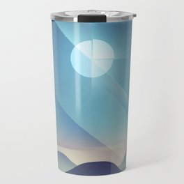 Northern Lights Abstract Travel Mug