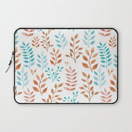 Watercolor twigs in turqoise and hazel colors Laptop Sleeve