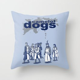 Camelot Dogs Throw Pillow