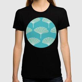 Green Ginkgo Leaves Pattern T-shirt