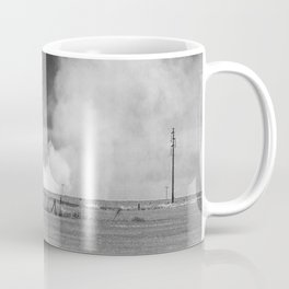 Fires in cultivated fields. Coffee Mug