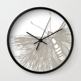 Butterfly stamp Wall Clock