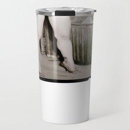 Pin Up Girl in Dirty Garage Travel Mug