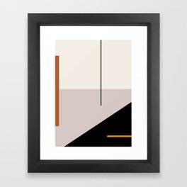 abstract minimal 28 Framed Art Print
