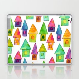 Home Sweet Home house illustration holiday gift family parents housewarming gift grandparents Laptop & iPad Skin