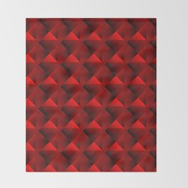 Optical pigtail rhombuses from red squares in the dark. Throw Blanket