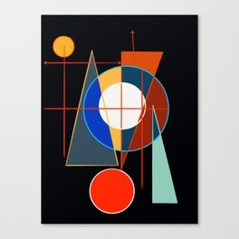Black Geometric Abstract Composition Suprematist Canvas Print