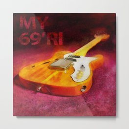 The THINLINE Between Us - Telecaster '69 Ri  Metal Print