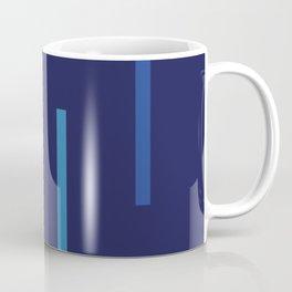 Abstract Minimal Retro Stripes Surf Coffee Mug