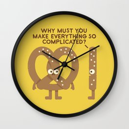 Straight Talk Wall Clock